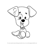 How to Draw Bubble Puppy from Bubble Guppies