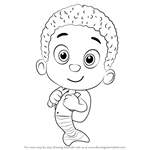 How to Draw Goby from Bubble Guppies