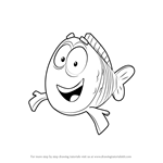 How to Draw Mr. Grouper from Bubble Guppies