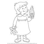How to Draw Rosie from Caillou
