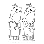 How to Draw Chip and Skip from Camp Lazlo