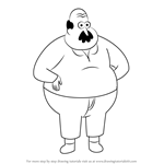 How to Draw Mr. Reese from Clarence