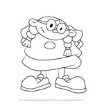 How to Draw Lizzie Devine from Kids Next Door