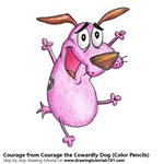 How to Draw Courage from Courage the Cowardly Dog