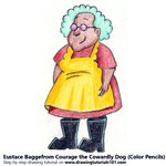 How to Draw Muriel Bagge from Courage the Cowardly Dog