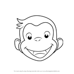 How to Draw Curious George Face