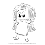 How to Draw Polly Posh from Cushion Kids
