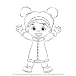 How to Draw Miss Elaina from Daniel Tiger's Neighborhood