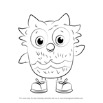 How to Draw O the Owl from Daniel Tiger's Neighborhood