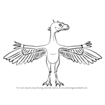 How to Draw Arlene Archaeopteryx from Dinosaur Train