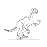 How to Draw Iggy Iguanodon from Dinosaur Train