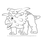 How to Draw Mayor Kosmoceratops from Dinosaur Train