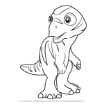 How to Draw Mookie Maiasaura from Dinosaur Train