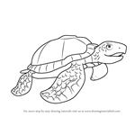 How to Draw Mrs. Archelon from Dinosaur Train