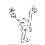 How to Draw Olivia Ovaraptor from Dinosaur Train