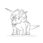 How to Draw Tank Triceratops from Dinosaur Train