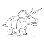 How to Draw Truman Triceratops from Dinosaur Train