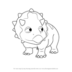 How to Draw Tuck Triceratops from Dinosaur Train