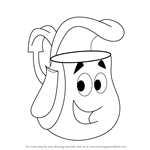 How to Draw Backpack from Dora the Explorer