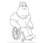 How to Draw Joe Swanson from Family Guy