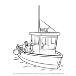 How to Draw Charlie Jones' Boat from Fireman Sam