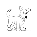 How to Draw Dusty from Fireman Sam
