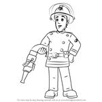 How to Draw Elvis Cridlington from Fireman Sam
