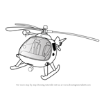 How to Draw Mountain Rescue Helicopter from Fireman Sam