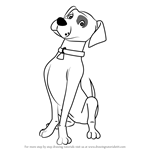 How to Draw Nipper Dog from Fireman Sam