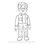 How to Draw Norman Price from Fireman Sam