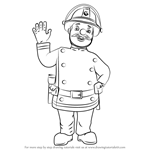 How to Draw Station Officer Steele from Fireman Sam