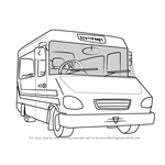 How to Draw Trevor Evans' Bus from Fireman Sam