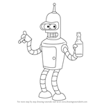 How to Draw Bender from Futurama