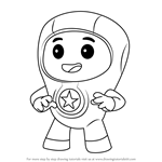 How to Draw Foz from Go Jetters