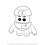 How to Draw Grimbot from Go Jetters