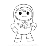How to Draw Kyan from Go Jetters