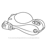 How to Draw Vroomster from Go Jetters