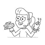 How to Draw Gabe Bensen from Gravity Falls