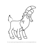 How to Draw Gompers from Gravity Falls