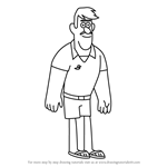How to Draw Hank from Gravity Falls