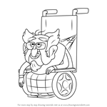How to Draw Mayor Befufftlefumpter from Gravity Falls