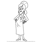 How to Draw Mrs. Pines from Gravity Falls