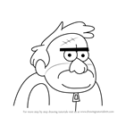 How to Draw Rico from Gravity Falls