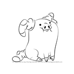 How to Draw Waddles from Gravity Falls