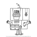 How to Draw Beat Bot from Grojband