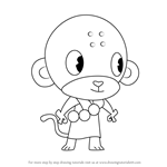 How to Draw Buddhist Monkey from Happy Tree Friends
