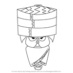 How to Draw Char Sui from Happy Tree Friends