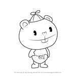 How to Draw Cub from Happy Tree Friends