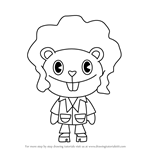 How to Draw Disco Bear from Happy Tree Friends