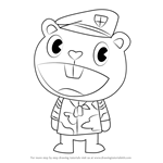 How to Draw Flippy from Happy Tree Friends